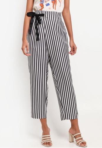 J.Crew black Stripe Lucky Crepe Okinawa Pants 86C47AA696D403GS_1