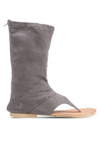 Sulima grey Suede Sandal Boots SU915SH36LRZMY_1
