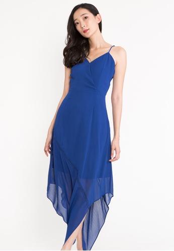 BEBEBEIGE blue BebeBeige Sleeveless V-Neckline Chiffon Evening Long Maxi Dinner Dress 0E0EEAA6FDEDE5GS_1
