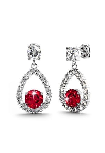 Annie Bloom 金色 ANNIE BLOOM Fenella Bloom Earrings in Ruby 83C6FAC6B8C802GS_1