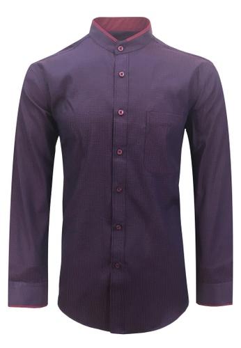 Pacolino red Casual Smart Long Sleeve Men Shirt 09181AAA647B95GS_1