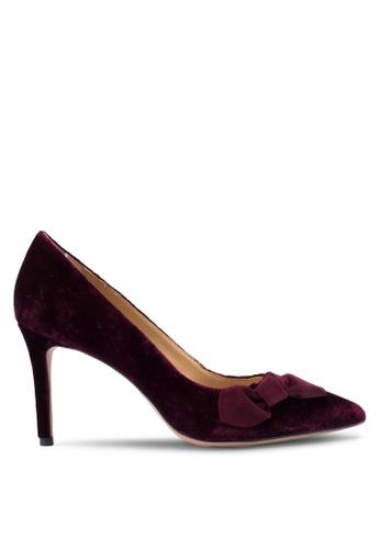 bad65d8ac484 Banana Republic red Madison - V Topline Novelty Velvet Bow Heels  4C6F1SH3C7A444GS 1