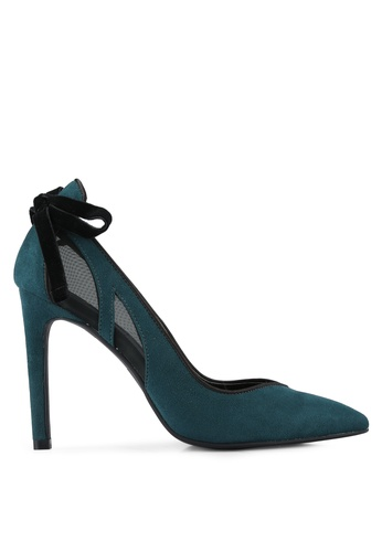 ZALORA green Bow High Heels 5339CSHE14E48CGS_1