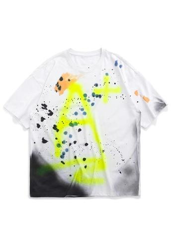 Twenty Eight Shoes Handmade Splash Ink Short T-shirt 1169S20 A7929AA02BB3A6GS_1