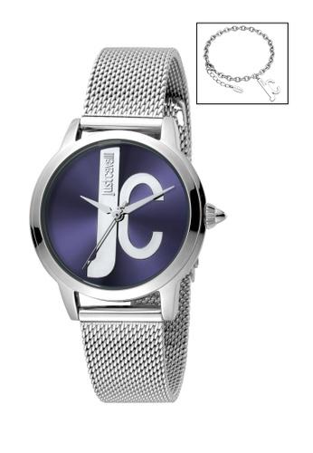 90c1cd51a7b1 Buy Just Cavalli Just Cavalli Logo Quartz Watch   Bracelet Set JC1L050M0075