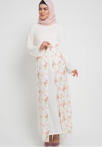 Aira Muslim Butik white Chamylia Dress 4E101AA51BBD8CGS_1