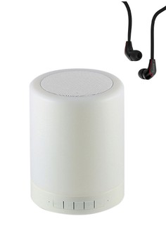 Wireless Bluetooth Speaker Smart Touch LED Mood Lamp with High Quality Jm12 Earphone