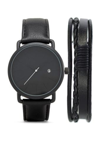 LEUPP black Watch and Bracelet pack - Muyo with Bracelet TO983AC13PFYPH_1