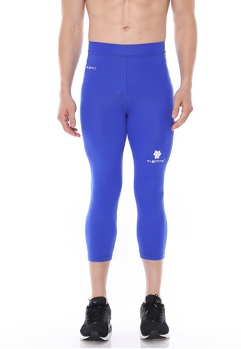 Jual Tiento Tiento Man Compression 3 4 Pants Blue Celana Legging Leging Lejing Sebetis Pria Olahraga Lari Sepakbola Renang Fitness Futsal Original Zalora Indonesia