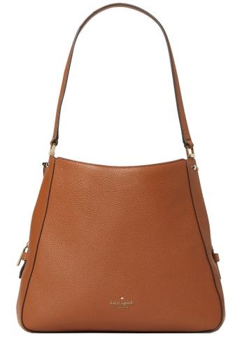 Kate Spade brown Kate Spade Leila Medium Triple Compartment Shoulder Bag in Warm Gingerbread DC1CCAC8CC085BGS_1