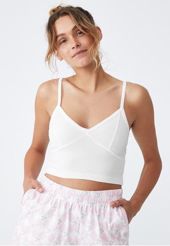 Cotton On Body white Rib Lace Sleep Bustier 0CD9CAA59CD005GS_1