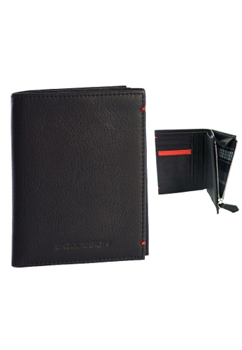 ENZODESIGN black Ultra Soft Cow Leather Slim Vertical Wallet With Zip Coin Compartment EN115AC92ZSTPH_1