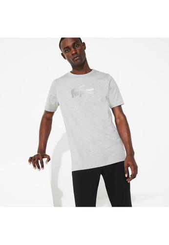 4abb3c6e7a Men's Lacoste SPORT Crew Neck Holographic Croc Cotton T-shirt-TH3495-10