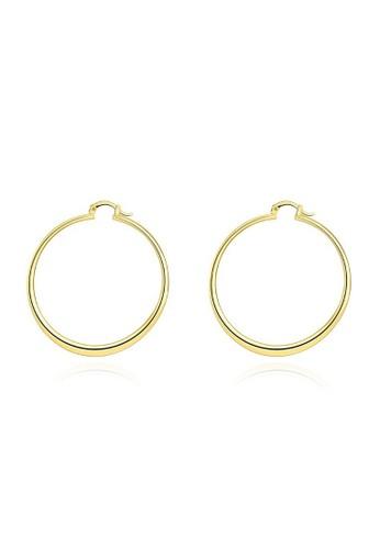 Tiaria yellow Tiaria Popular Round Ear Ring Gold Coated Aksesoris Perhiasan Anting AKE066--K09 31A13AC47820E4GS_1