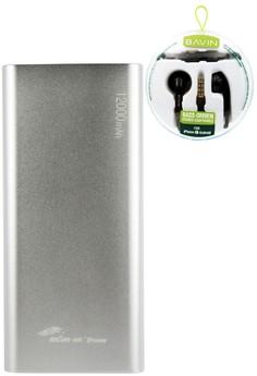 MSM.HK DUCATI iPower 12000mAh Power Bank With FREE BAVIN Bass Driven Stereo Earphone