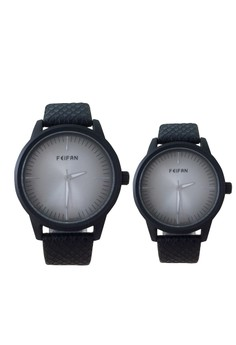 New FeiFan Silver Tone Dial Couple Watch