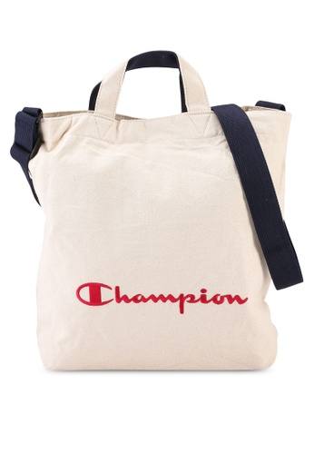 champion white Japan Range Vertical Top-Hook Closure Tote Bag With Shoulder Strap 778A7AC2029708GS_1