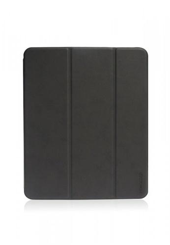 "Monocozzi black Lucid Plus Folio - Shock Resistant Folio Case with Apple Pencil Slot for iPad Pro 12.9"" - Charcoal 698B6ACE42E195GS_1"
