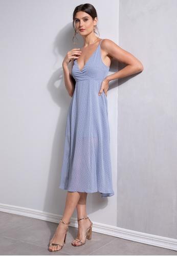 ZALORA OCCASION blue Wrap Cami Dress 9E2C5AADBDEF61GS_1