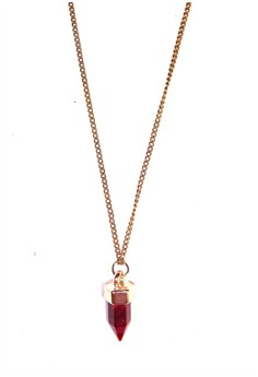 Pointed Red Spinel Necklace
