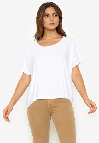 Chictees white Jillian Square Shirt 514CDAA2221F3EGS_1