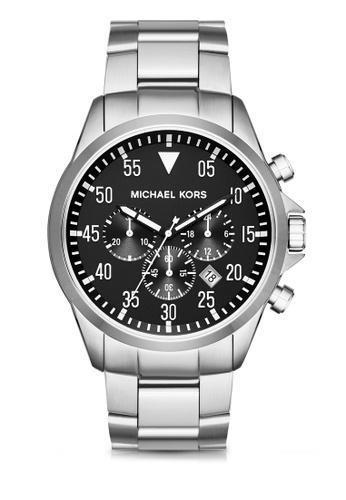 MICHAEL KORS silver Gage Chronograph Watch MI248AC0K94RPH_1