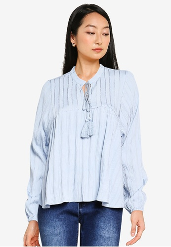 ONLY blue New Elisa Life Stripe Blouse 70729AAB9089DAGS_1