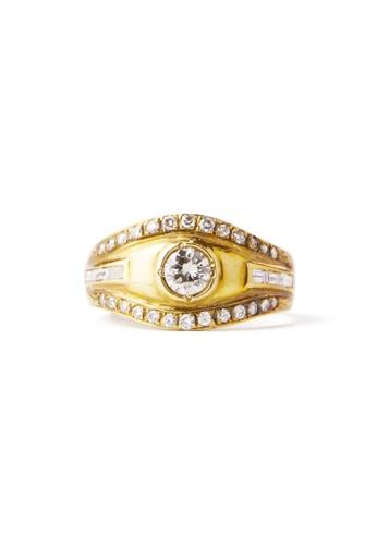 CEBUANA LHUILLIER JEWELRY gold 18 Karat Yellow Gold Lady Ring With Diamonds F801BAC6A24CC9GS_1