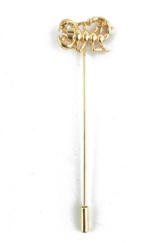 Splice Cufflinks silver Gold Scorpion Lapel Pin SP744AC15FAESG_1