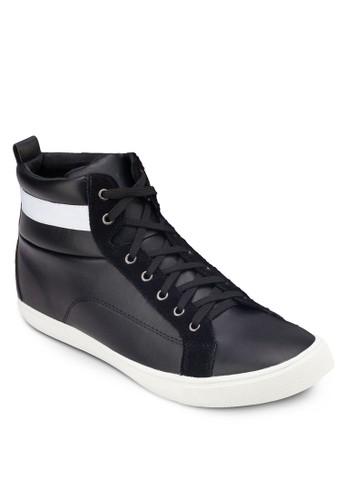 撞色繫帶高筒運動鞋,esprit outlet台北 鞋, 休閒鞋