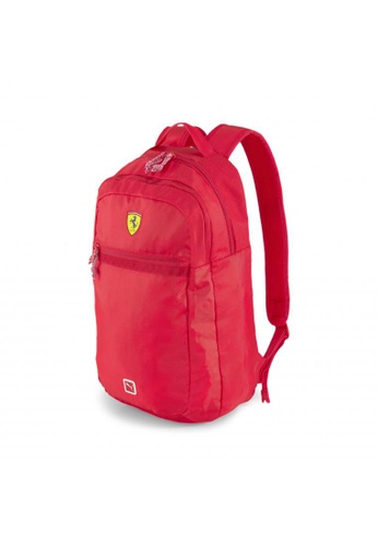 PUMA red Scuderia Ferrari Fanwear Backpack 76318AC02208FAGS_1