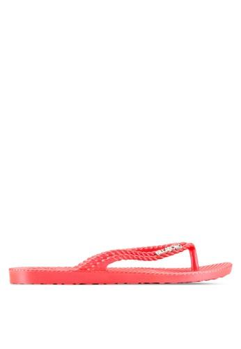 esprit 眼鏡暗紋人字夾腳拖, 女鞋, 鞋