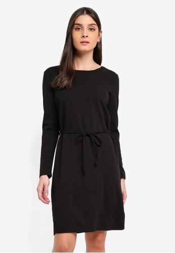 JACQUELINE DE YONG black Ina Lauren Belt Dress C7932AA78562A7GS_1
