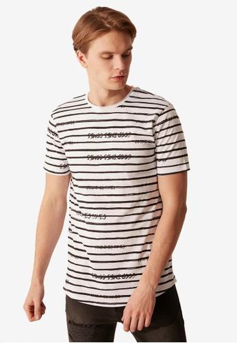 LC Waikiki white Striped Cotton T-Shirt 19A58AAB059917GS_1