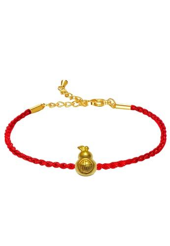 LITZ gold [SPECIAL] LITZ 999 (24K) Gold Gourd with Bracelet 葫芦手绳 EPC0977-B-R (0.14g+/-) 1D638ACC525462GS_1