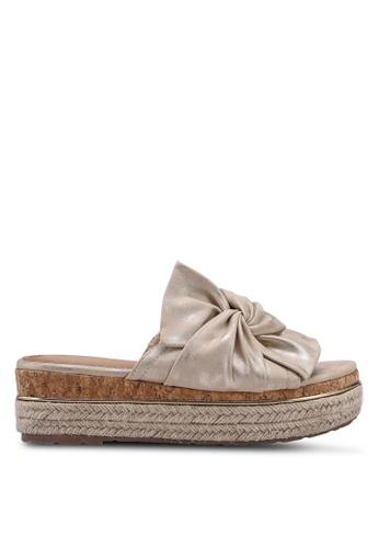 Carlton London grey Bow Sandal Wedges 2ED49SH47D720CGS_1