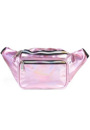 LULUGIFT pink Lulugift SoJourner Holographic Pink Fanny Pack Multiple Use Waist Bag F4970AC19CB78DGS_1
