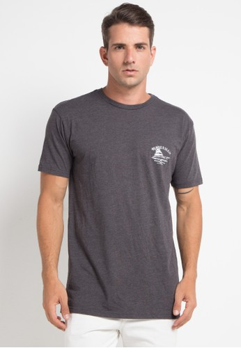 Quiksilver multi and grey Lauderdale Ss Ii T-Shirt 56621AA01B7192GS_1