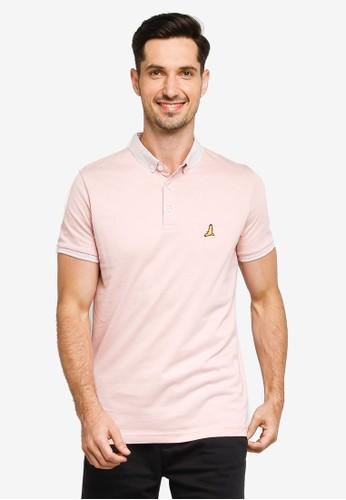 Brave Soul multi Split Hem Jersey Polo Shirt 086A3AAEB25F72GS_1