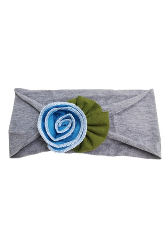 Lowela grey and blue Baby Headband 99048KC236A3BDGS_1