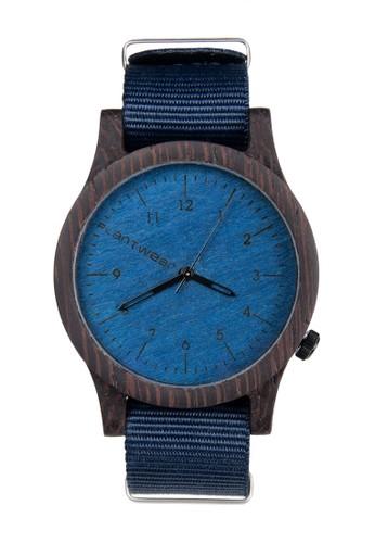 傳承zalora 心得系列寶石藍黑檀木錶, 錶類, 紳士錶