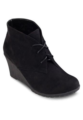 繫帶楔型跟踝靴,esprit 高雄 女鞋, 鞋