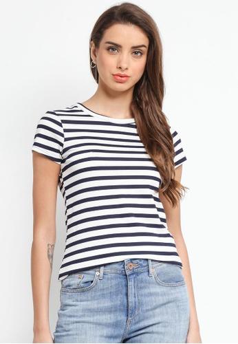 Dorothy Perkins navy Navy Striped T-Shirt 98017AAFBB36E0GS_1