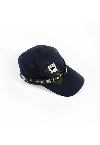 WEAVISM green and navy DIY CAP - Navy - Green E1FC6AC6B6F067GS_1
