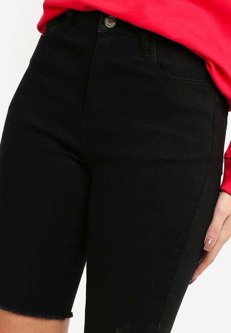 Streton Black Black Longer MISSGUIDED Short Length wqgnpAWS