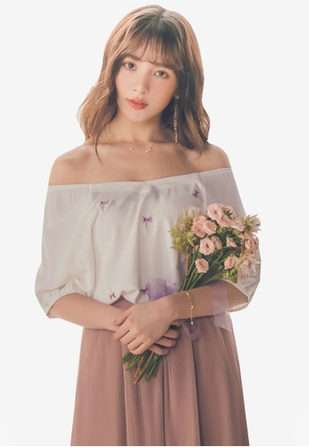 Yoco white Embroidered Puff Sleeve Top BF46CAA19D852AGS_1