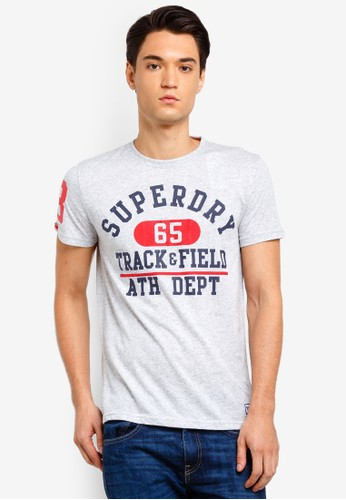 Superdry silver Trackster Lite Tee 34971AA209A25DGS_1