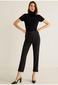 f9f0705520e5 45% OFF Mango Elastic Waist Trousers HK$ 359.00 NOW HK$ 199.00 Sizes XS S M  L XL · Mango black Openwork Long Cardigan 58319AAD3CAE3BGS_1