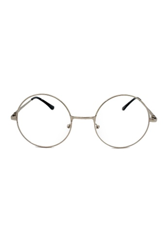 Elitrend black and silver Round Metal Glasses with Silver Frame 94ECAGL8987208GS_1