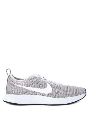 Nike grey and white Women's Nike Dualtone Racer Shoes NI126SH0STTQMY_1